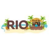rio Путешествия Ладонь, питье, лето, кресло для отдыха, тропическое бесплатная иллюстрация