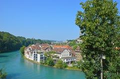 Rio Aare, Berna, Suíça Imagens de Stock
