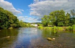 Rio abajo del puente de Newby Imagen de archivo libre de regalías