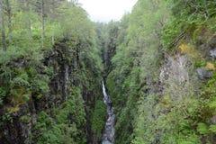 Rio abajo a partir de caídas de Measach Imagen de archivo