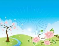 Rio abstrato da flor da paisagem da natureza Foto de Stock Royalty Free