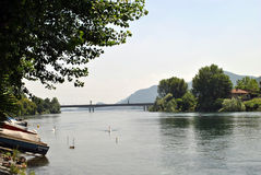 Rio Adda Imagem de Stock