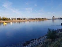 Rio Alemanha Bona de Kennedy Bruecke Bridge Rhein Rhine imagens de stock