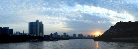 Rio amarelo de China Foto de Stock Royalty Free