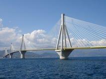 Rio antirio bridge Royalty Free Stock Images