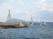 Rio-Antirion Bridge Stock Photo