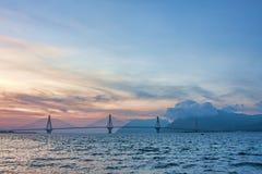 Rio - Antirrio Bridge stock image