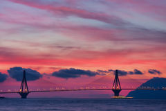 Rio - Antirrio Bridge Royalty Free Stock Image