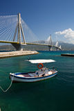 Rio Antirrio bridge. Stock Image