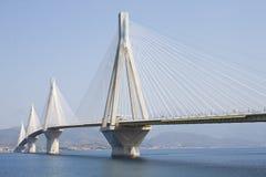 Rio-Antirrio bridge Royalty Free Stock Photography