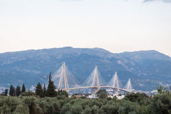 Rio Antirrio Bridge Greece Royalty Free Stock Photo