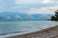 Rio Antirrio Bridge Greece Royalty Free Stock Photography