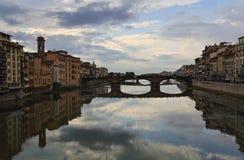 Rio Arno em Florença, Italy Foto de Stock Royalty Free