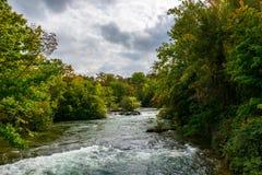 Rio ascendente de Niagara Falls Imagem de Stock Royalty Free