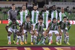 Rio Ave Futebol Clube line up royaltyfria foton