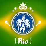 Rio background with stylized objects and cultural Royalty Free Stock Photo