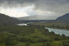Rio Baker nella Patagonia nordica, Cile Fotografie Stock
