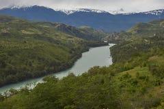 Rio Baker nella Patagonia nordica, Cile Fotografia Stock