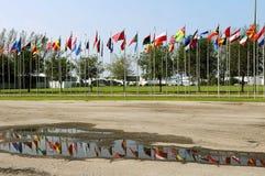 Rio 20 - bandiere dei paesi Fotografia Stock