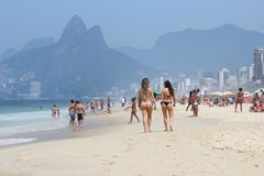 Rio Beach Fotografía de archivo libre de regalías
