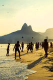 Rio Beach Football Brazilians Playing Altinho Stock Photo