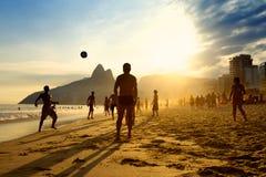 Rio Beach Football Brazilians Playing Altinho Stock Image