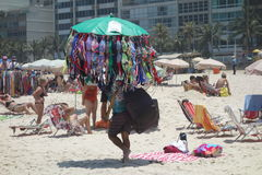 Rio Beach Scene Stock Afbeeldingen