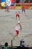 Rio2016 beach volleyball competition Stock Image