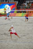 Rio2016 beach volleyball competition Stock Photography