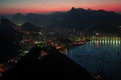 Rio bij Nacht royalty-vrije stock foto's