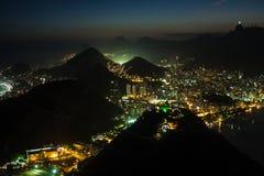 Rio bij Nacht Royalty-vrije Stock Afbeeldingen