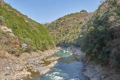 Rio bonito de Katsura em Arashiyama Fotografia de Stock Royalty Free