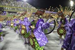 Carnival 2018 - Grande Rio. Rio, Brazil - february 12, 2018: Samba School parade in Sambodromo. Grande Rio during parade of the carioca carnival in the Marques stock photos