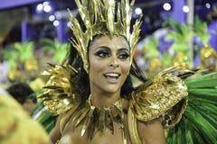 Carnival 2018 - Grande Rio. Rio, Brazil - february 12, 2018: Samba School parade in Sambodromo. Grande Rio during parade of the carioca carnival in the Marques stock images