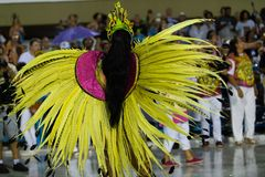 Carnival 2019 - Estacio de Sa. Rio, Brazil - march 02, 2019: Estacio de Sa during the Carnival Samba School Carnival RJ. Highlight floor janeiro parade dancer stock photos