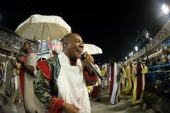 Carnival 2019 - Estacio de Sa. Rio, Brazil - march 02, 2019: Estacio de Sa during the Carnival Samba School Carnival RJ. Singer janeiro parade dancer costume stock photos