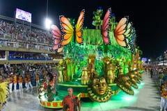 Carnival 2019 - Estacio de Sa. Rio, Brazil - march 02, 2019: Estacio de Sa during the Carnival Samba School Carnival RJ janeiro parade dancer costume brazilian royalty free stock photo
