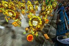 Carnival 2019 - Estacio de Sa. Rio, Brazil - march 02, 2019: Estacio de Sa during the Carnival Samba School Carnival RJ janeiro parade dancer costume brazilian stock photo