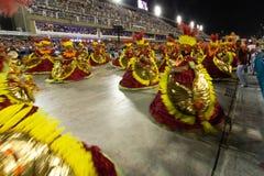 Carnival 2019 - Estacio de Sa. Rio, Brazil - march 02, 2019: Estacio de Sa during the Carnival Samba School Carnival RJ janeiro parade dancer costume brazilian royalty free stock image