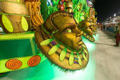 Carnival 2019 - Estacio de Sa. Rio, Brazil - march 02, 2019: Estacio de Sa during the Carnival Samba School Carnival RJ janeiro parade dancer costume brazilian stock images