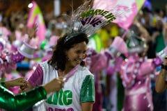 Carnival 2019 - Mangueira. Rio, Brazil - march 04, 2019: Mangueira during the Carnival Samba School Carnival RJ 2019, at Sambodromo, widow of Marielle Franco stock photos