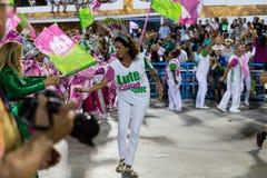 Carnival 2019 - Mangueira. Rio, Brazil - march 04, 2019: Mangueira during the Carnival Samba School Carnival RJ 2019, at Sambodromo, widow of Marielle Franco royalty free stock images