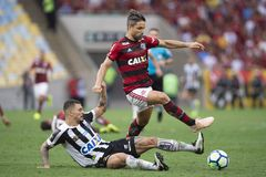 Rio, Brazil - november 15, 2018: Diego player in match between Flamengo and Santos by the Brazilian Championship in Maracana stock image