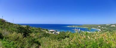 Rio Bueno, Jamaica. Panorama of Rio Bueno, Jamaica near the Trelawny and St. Ann Parish royalty free stock photo
