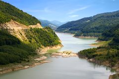 Rio calmo Fotografia de Stock