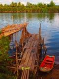Rio cambojano Imagem de Stock