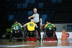 Rio 2016 - campeonato internacional do rugby da cadeira de rodas Imagem de Stock Royalty Free