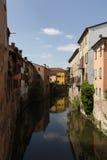 Rio Canal, Mantua Italien Stockbilder