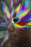 Rio Carnaval Brazilian Man Profile in Colorful Mask Royalty Free Stock Photos