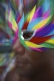 Rio Carnaval Brazilian Man Profile na máscara colorida fotos de stock royalty free